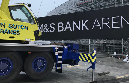 Large illuminated signs fabricated and installed by Principle for M&S Bank