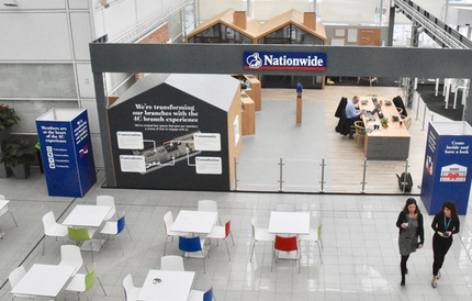 Principle worked closely with Nationwide to provide a full turn key solution for their new 4C brand experience temporary branch.
