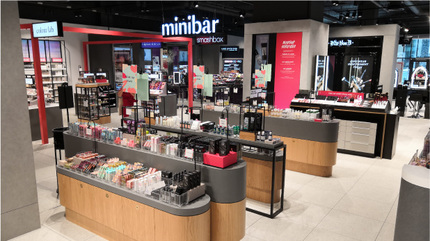Debenhams Beauty Hall occupies 15% of the store's total space.
