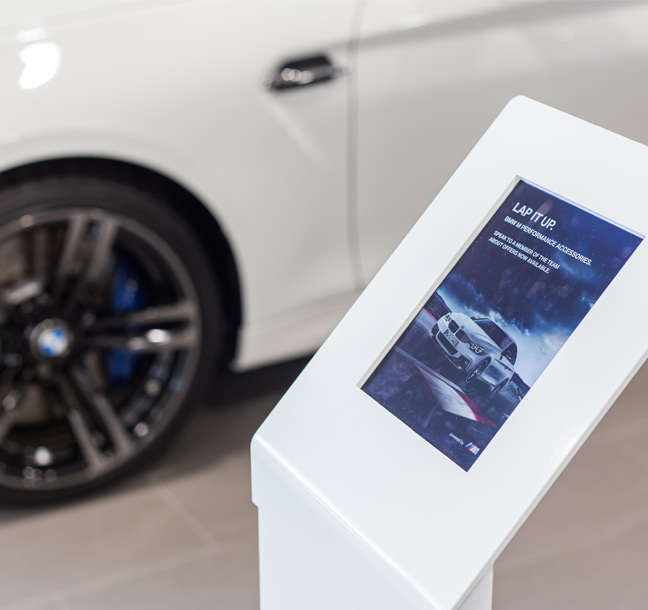 Digitally Enhanced Showrooms Implemented by Principle for BMW