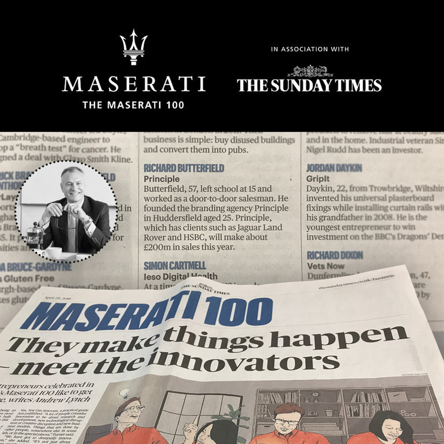 Principle Group Chairman recognised as game-changing entrepreneur in Maserati 100